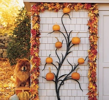 Aussendekoration für Halloween