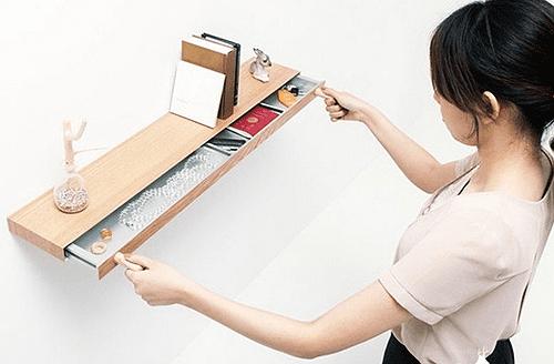 Bücherregal mit Schublade