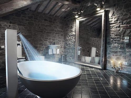 Badezimmer Mit Natursteinwand 2 - Freshouse