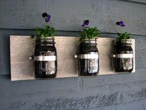 Blumentopf aus Konservenglas