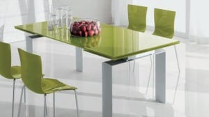 Fantastic Green Modern Dining Tables Mzrble White Floor Interior