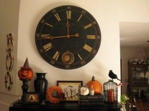 Halloween Deko für Kaminumfassung