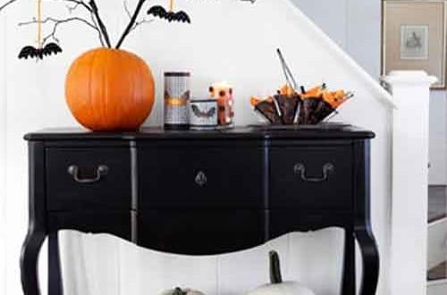 Halloween Dekoration für das Wohnzimmer