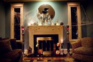 Halloween Dekoration im Wohnzimmer