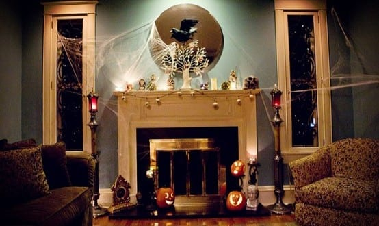 Halloween Dekoration im Wohnzimmer - fresHouse