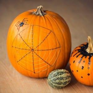Halloween Kürbis mit Pailletten