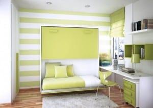 Kinderzimmer mit Schrankbett