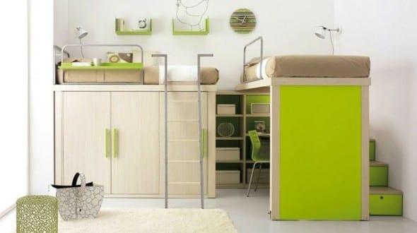 Kindezimmer mit Hochbettgestell
