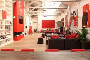 Loft Design in rot und weiß