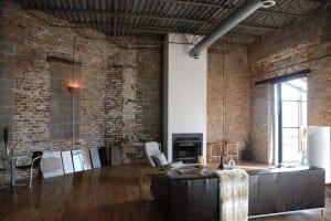 industrielelle Mauerwerk Einrichtung eines Lofts
