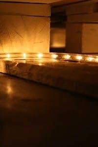 Palettenbett mit LED Beleuchtung 1