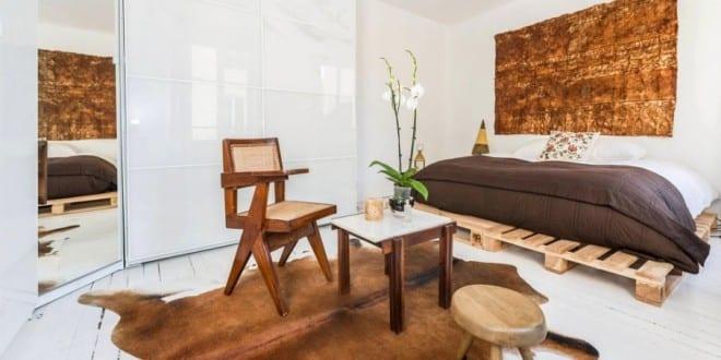 21 Ideen für Palettenbett im Schlafzimmer