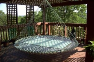 Schwimm Runde Betten in Luft