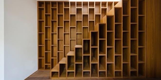 wandregal als treppe freshouse. Black Bedroom Furniture Sets. Home Design Ideas