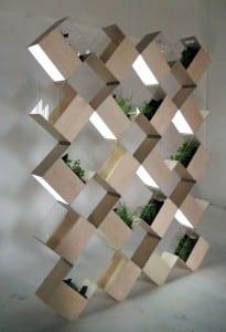 modulare Wandelemente für Pflanzen