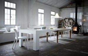 ausziebarer Esstisch aus Holz 1