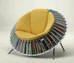 designer Stuhl für Bücher-Aufbewahrung