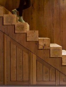fantastische idee für Innenraumtreppe aus Holz