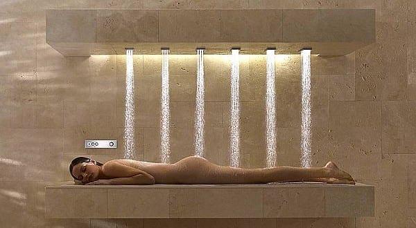 horizontalr Dusche