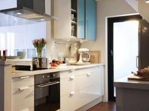 kleine Küche in weiß 4