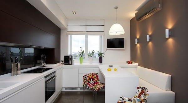 kleine Küche mit Theke 5