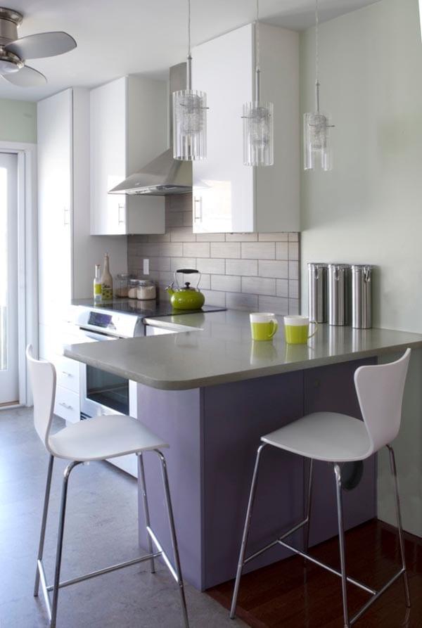 Kleine Küche Mit Eckiger Theke - Freshouse