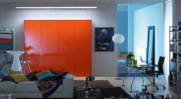 kluge Entscheidung für orange Kleine Küche