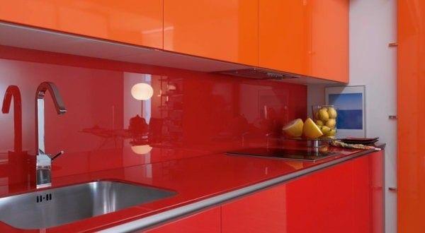 kluge Entscheidung fur orange Kleine Küche Design