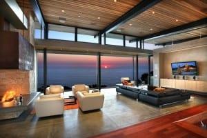 Wohnzimmer mit Blich auf die See