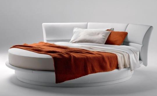 minimalistischen weißen Runde Betten