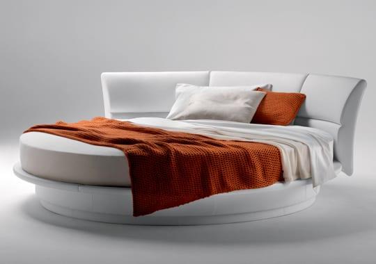 minimalistischen wei en runde betten freshouse. Black Bedroom Furniture Sets. Home Design Ideas