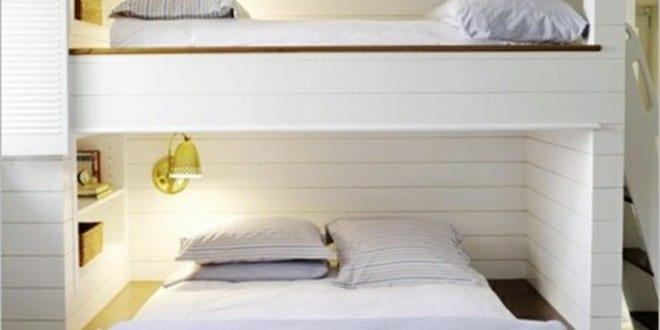 minimalistisches Etagenbett fuer Kinderzimmer