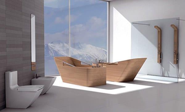 Moderne Badewane Aus Holz Freshouse