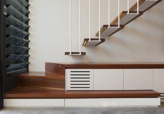Moderne innenraum holytreppe in rozelle haus treppe design for Modernes haus treppe