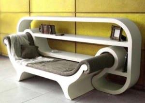 moderne Lesemöbel mit Bücherregalen