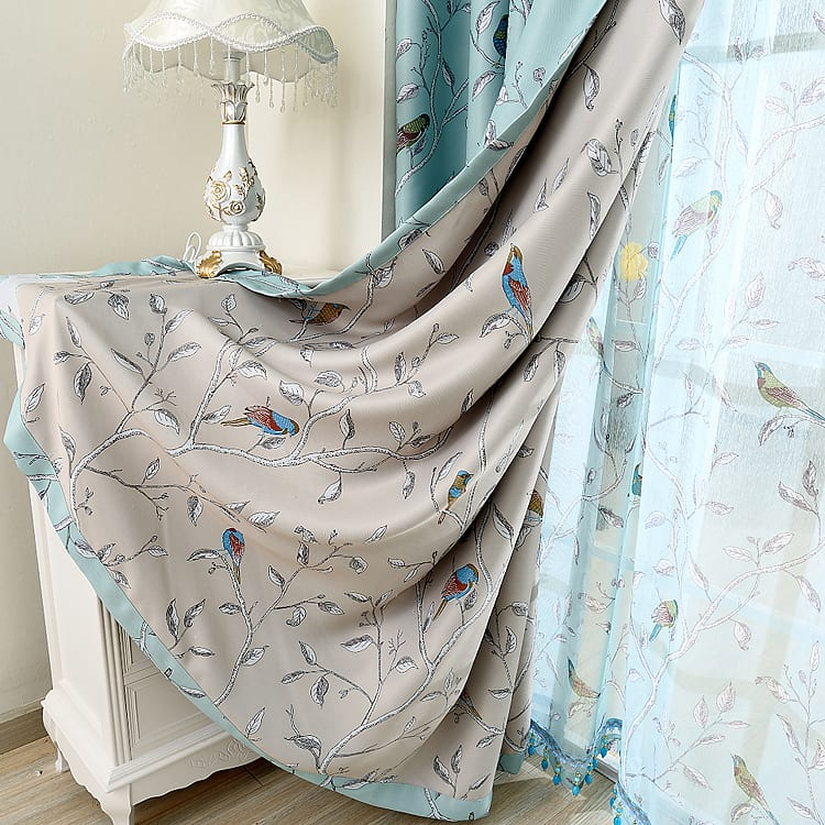 Moderne Blau Und Weiß Vorhänge In Türkis   Freshouse