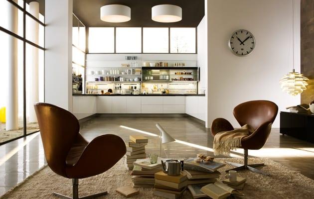 moderne kleine Küche im Wohnzimmer 1 - fresHouse