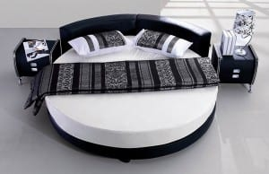 modernen Schwarz-Weiß-Design Runde Betten