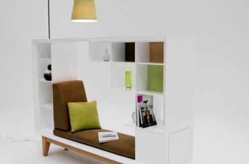 moderner Lesemöbel mit Bücherregalen