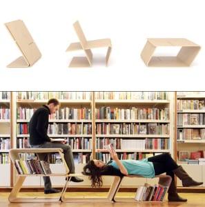 multifunktionaler Lesestuhl