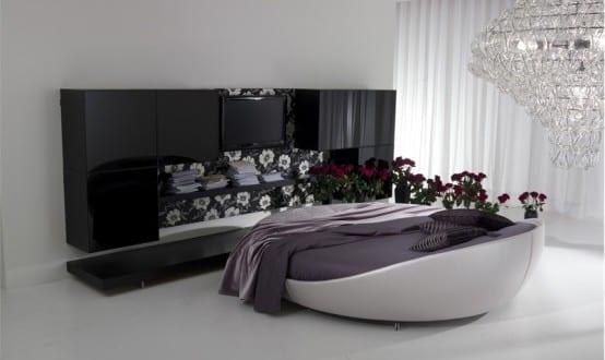 zeitgenössische Runde Betten im Schlafzimmer