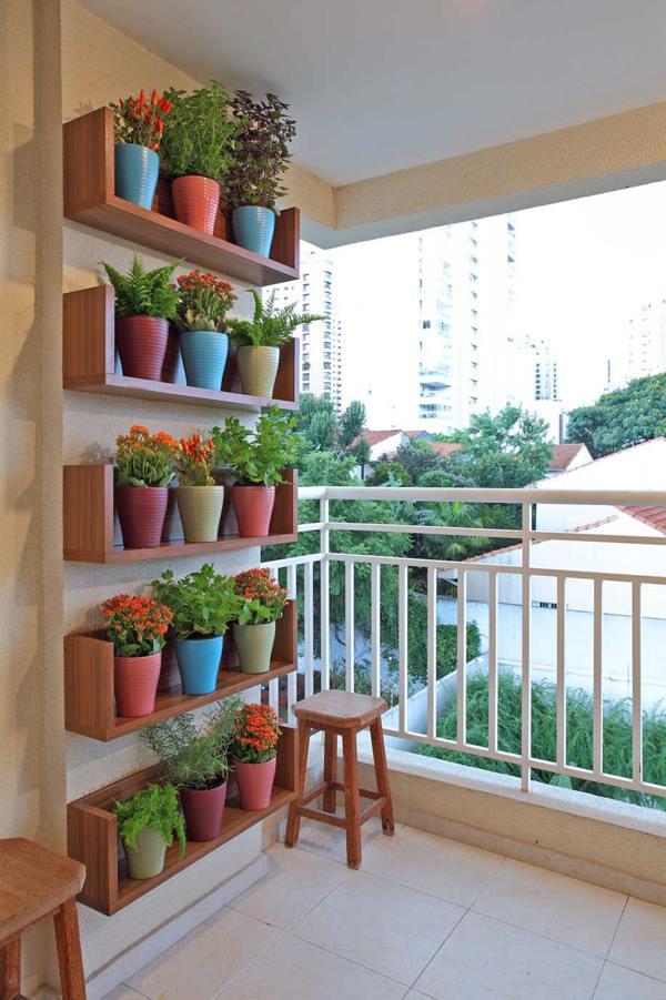 Balkon Ideen Blumetopfe Dekoration Freshouse