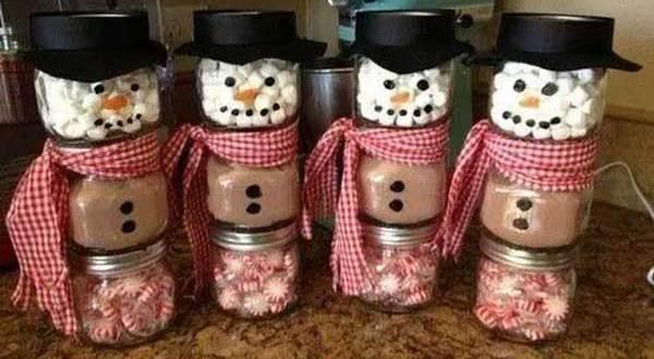 DIY weihnachtsgeschenk-Kakao  Schneeman