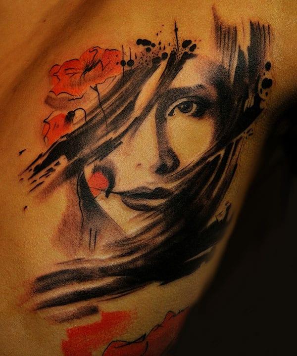 Frauenporträt Tattooideen