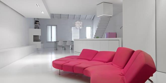 Zeitgenössische Loft-Wohnung und Gestaltung von Romolo Stanco