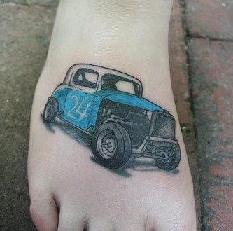 auto tattoo motiv