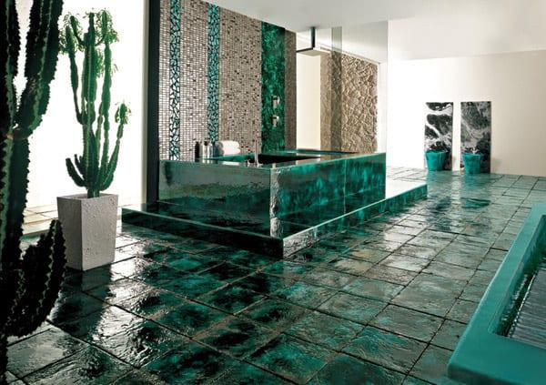 Farbrausch Schöner Wohnen-Badezimmer Einrichtung In Dunkelgrün