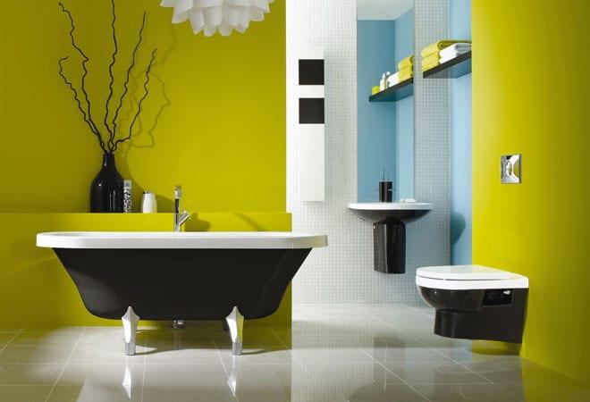 farbrausch schöner wohnen-badezimmer in grün - fresHouse