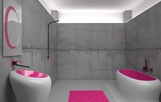 farbrausch schöner wohnen-badezimmer mit betonwänden - fresHouse