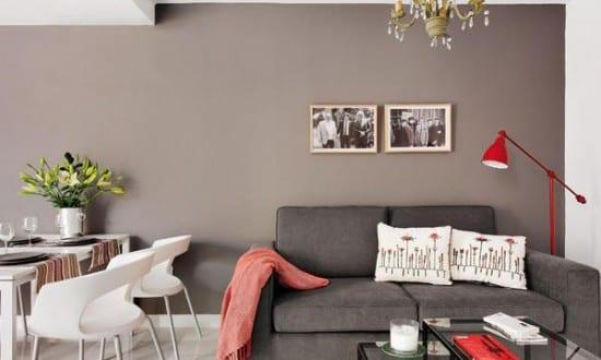 graue wand streich idee für kleines wohnzimmer gestaltung - fresHouse